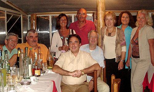 Marco con un gruppo di amici, anno 2006.