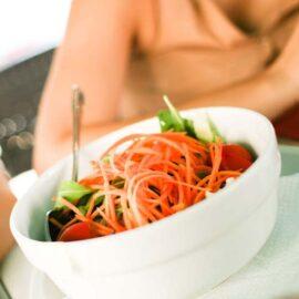 Menu vegetariano in Garfagnana, Lucca.